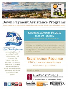 Down Payment Assistance 2017